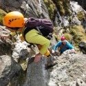 Scrambling off Idwal Slabs