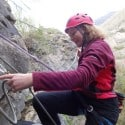 kathryn Threading the Belay