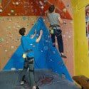 Bredon Boys learn to sport lead climb